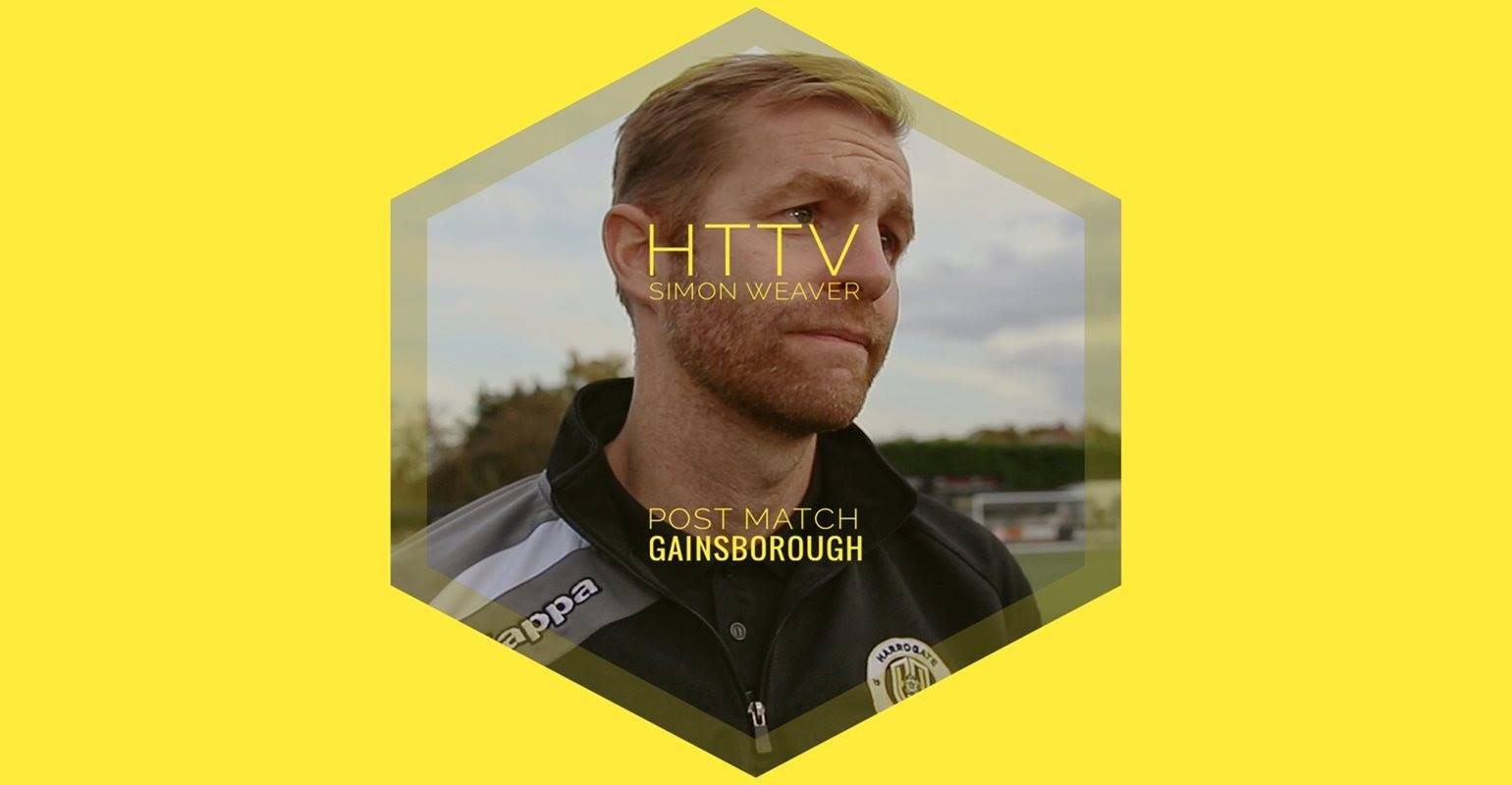 HTTV | Simon Weaver Post Match Reaction - Gainsborough Trinity