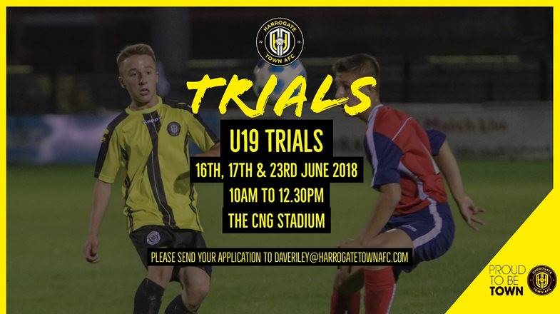 U19 Trials Taking Place in June
