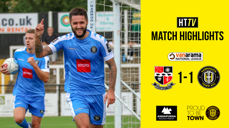 HTTV | Highlights: Bromley 1-1 Harrogate Town